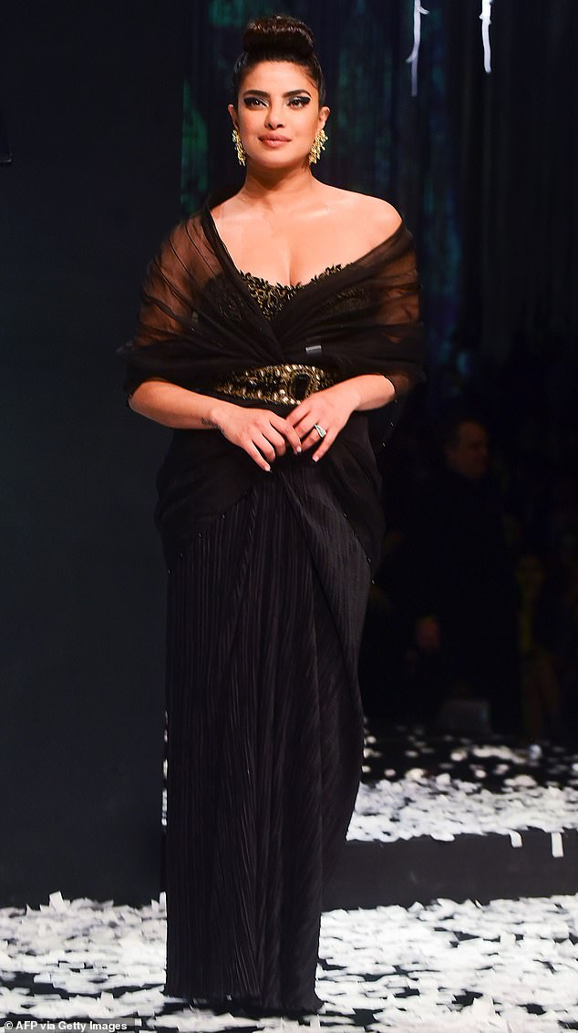 Globetrotter:Priyanka Chopra dashed back to Bombay this week to hit the runway at the grand finale of the Blenders Pride Fashion Tour on Saturday