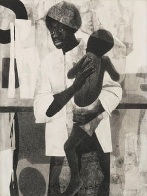 Charles McGee - Mother and Child, 1965