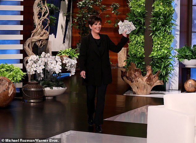 Light:'She was frustrated and she felt underappreciated and her sisters didn't appreciate her boundaries, so I think after taking a little bit of time off, she's seen the light,' Jenner said, which Ellen joked was, 'money'