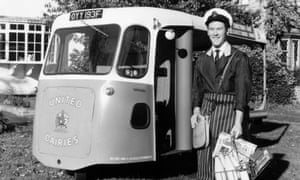 a milkman pictured in 1972
