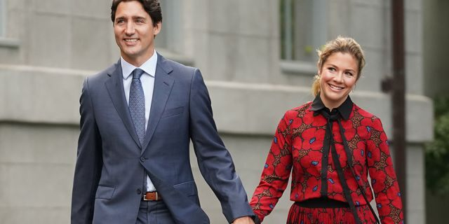 Justin Trudeau, Canada's prime minister, and his wife Sophie Grégoire Trudeau. She announced Saturday she has recovered from coronavirus.