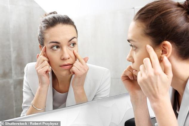 Millennials are rushing to get eye bag removal surgery, called lower blepharoplasty, as more young people are staying up late to use their phones or watch TV (file photo)