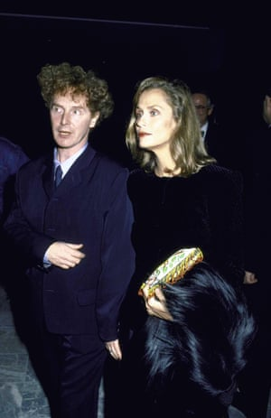 Giving good face: Lauren Hutton and Malcolm McLaren.