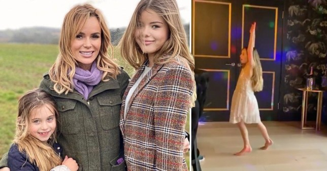 Amanda Holden has Zoom disco for daughter and friends (Picture: @noholdenback)