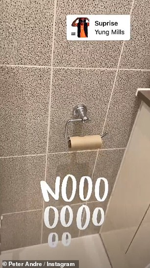 Family life:He also uploaded a humorous video of his empty toilet paper cardboard roll, captioning it: 'Noooooo'