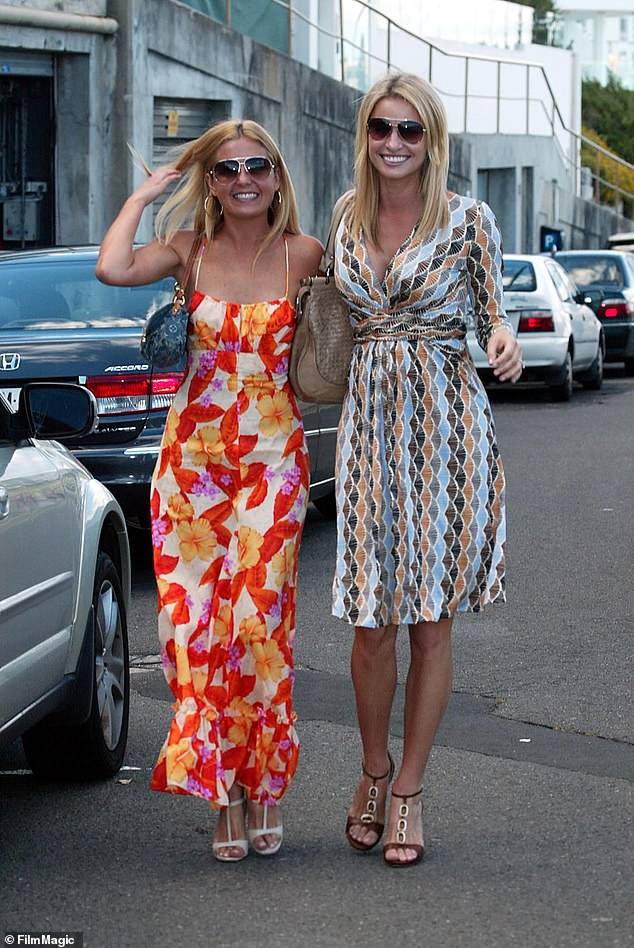Famous friends: Jo is pictured with model Kristy Hinze on December 14, 2008. Jo was a bridesmaid at Kristy's wedding to American tech billionaire Jim Clark in 2009