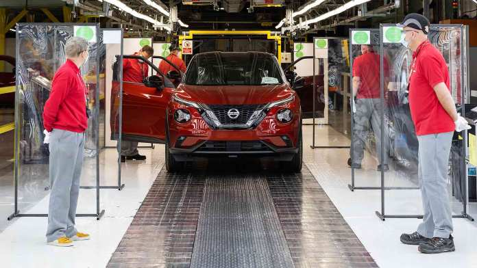 Car production restarts at Nissan Sunderland