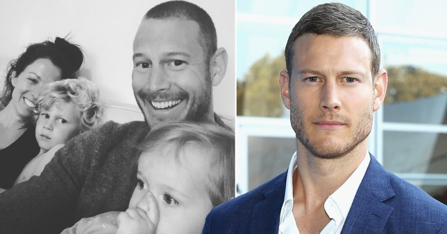 Tom Hopper, wife Laura and son Freddie and daughter Truly Rose