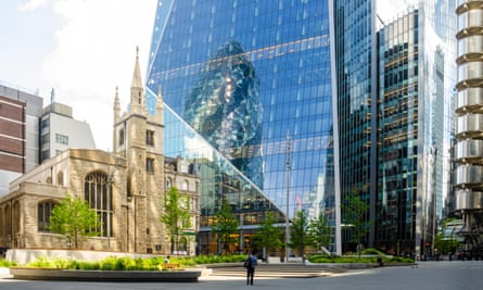 St Andrew Undershaft near the Gherkin in London.