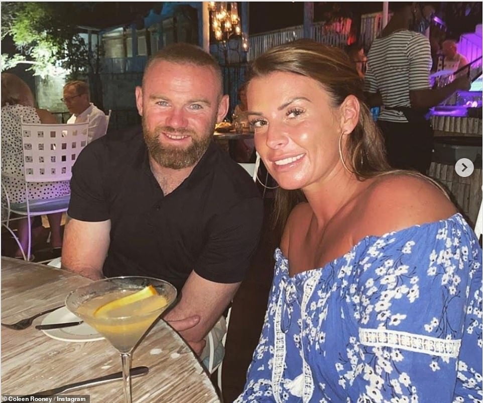 Date night: Coleen shared a sweet snap with Wayne during their dinner with fans via Instagram