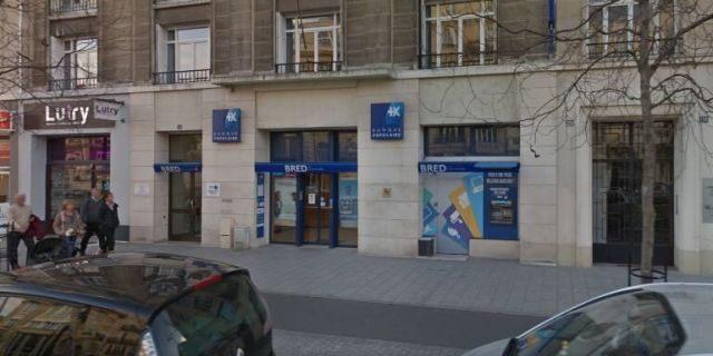BRED bank on Boulevard de Strasbourge in Le Havre, France.