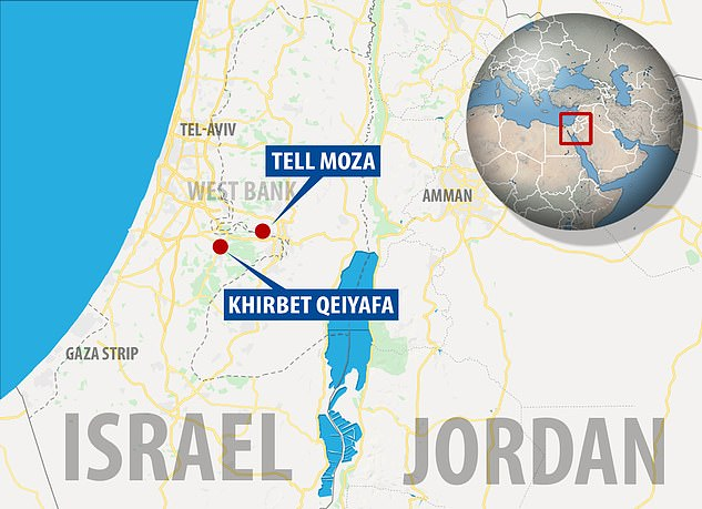 One head was discovered a decade ago in Khirbet Qeiyafa, about 20 miles from Tel Motza where Shua Kisilevitz and Oded Lipschits uncovered two others earlier this year