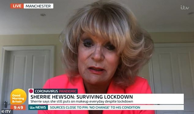 Battle:The interview came after Sherrie broke down in floods of tears on Good Morning Britain in April when she revealed her beloved brother Brett was in hospital and she couldn't see him