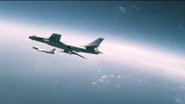 A screengrab from the PLA Airforce promotional video