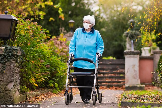 As a result of better nutrition, hygiene and healthcare people between 75 and 80 now walk, on average, almost 1mph faster than they did in 1990 (stock)