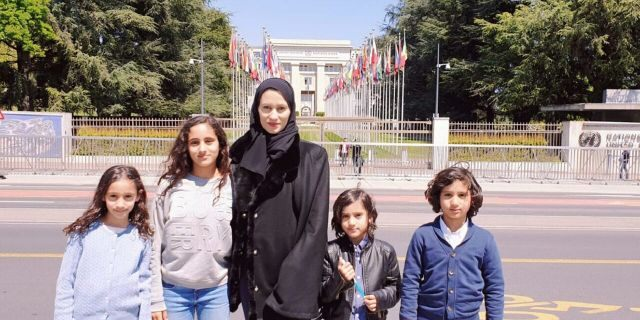 Asma Arian, here with her four children, has made an 11th-hour effort to get her husband, Qatari Sheikh Talal Al Thani, released from prison.