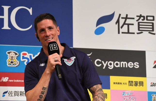 Fernando Torres at a press conference in Japan