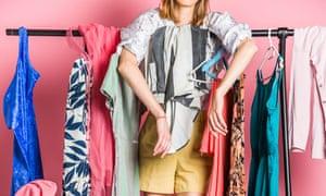 Unrecognizable Woman Standing In Her Wardrobe
