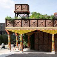 Thames Walk pavilion by Studio Weave