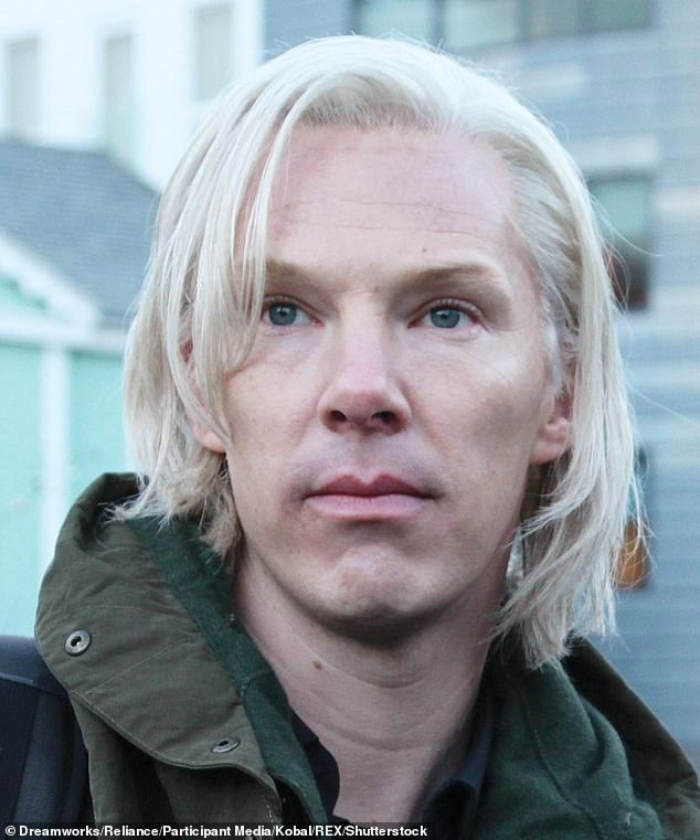 'I think he sounds South African': The pair also rubbished English star Benedict Cumberbatch's (pictured) portrayal of Julian Assange in The Fifth Estate