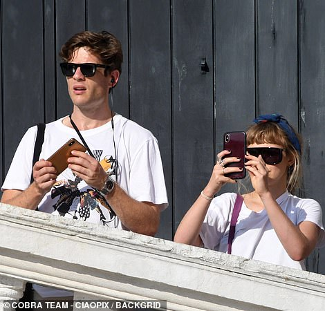 Phone: As well as making use of James' camera to capture images of their surroundings, the pair also used their smartphones