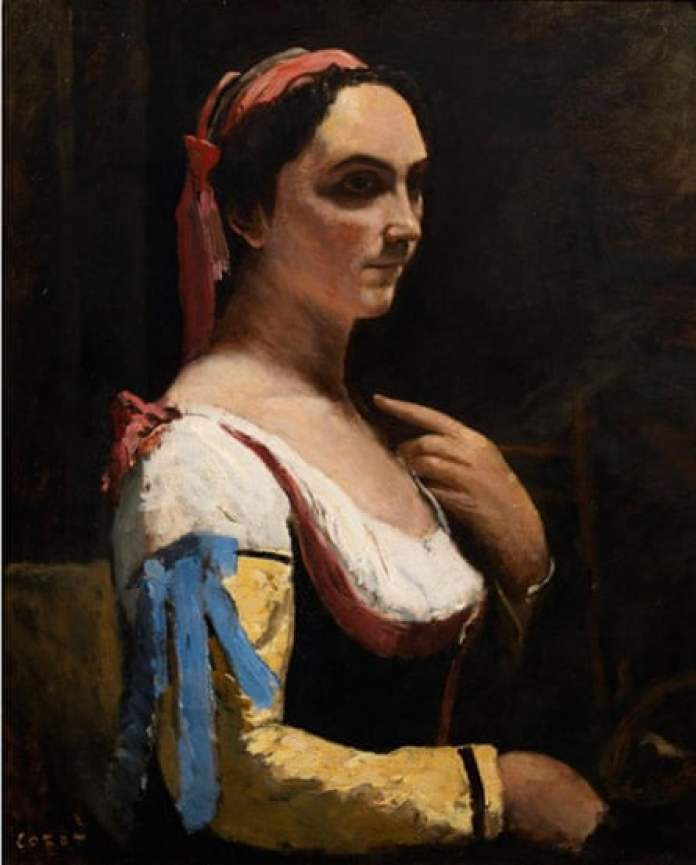 Jean-Baptiste-Camille Corot, The Italian Woman