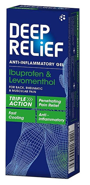 PAIN RELIEF GEL:Deep Relief anti-inflammatory gel, 30g, £4.59, chemist-4-u.com