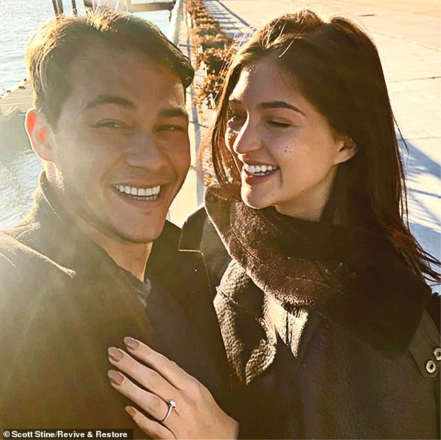 DailyMail.com revealed on Wednesday that Vitolo broke up with his live-in fiancée 24-year-old Rachel Emmons (pictured together) by text when photos of him and Holmes were published