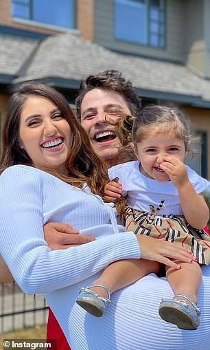 Anas and Asala Marwah, pictured with their young daughter Mila