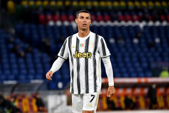Cristiano Ronaldo looks on during Juventus' Serie A clash with Roma