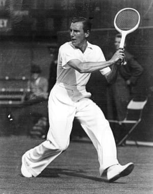 Fred Perry at Wimbledon in 1934.