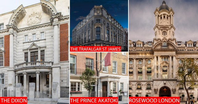 The Trafalgar St. James , the dixon, the prince akatoki and the rosewood london