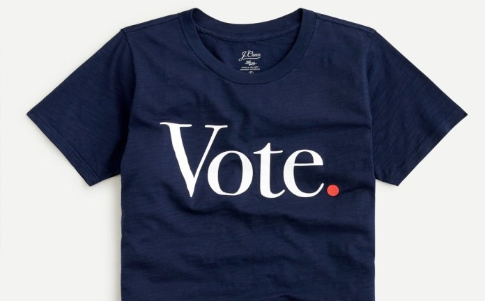 J.Crew promotes voter participation with new capsule collection