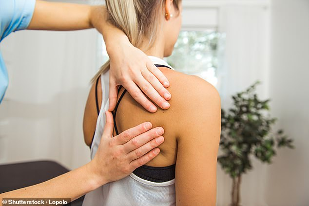 Physiotherapy can be just as effective as invasive surgery for fixing one of the most common shoulder injuries, British surgeons have found (stock photo)