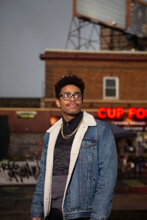 """""""We need people to be engaged on the ground, picketing striking, boycotting things, and protesting to actually make change,"""" said Dante Malik Fornizy."""