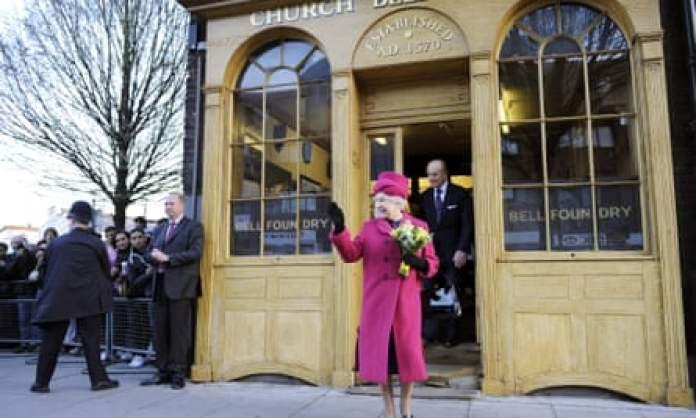 Queen Elizabeth II Visits The Whitechapel Bell Foundry