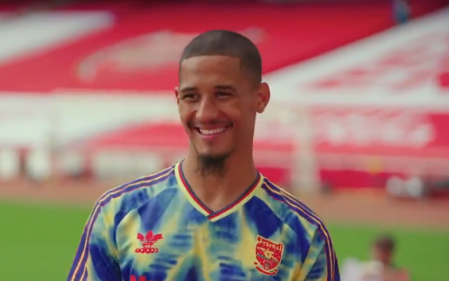 William Saliba arrived at Arsenal over the summer after leaving Saint-Etienne