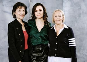 Centre stage … Harriet Walter, Clare Dunne and Phyllida Lloyd at Sundance in January.