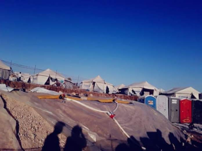 The temporary refugee settlement in Kara Tepe, on Lesbos, Greece, for migrants of former Moria camp.