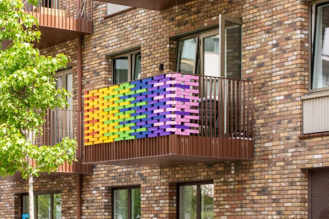 Balcony prototype for RAW Rainbow design installation by Studio Curiosity in London, UK