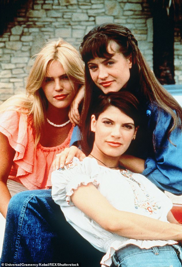 Also starring: Co-stars Deena Martin, Michelle Burke and Christine Harnos seen here in the 90s classic film