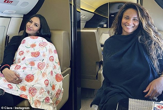 Mom life:Ciara and her longtime friend Vanessa Bryant bonded over breastfeeding during a trip on a private plane