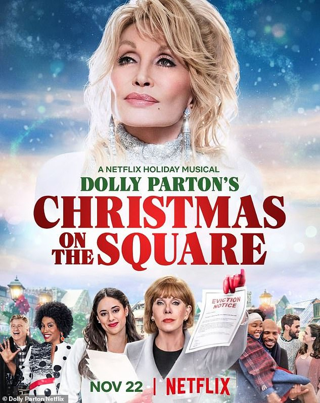 Netflix and chill: Dolly leads Christine Baranski and Jenifer Lewis in the upcoming Netflix Christmas musical movie Christmas On The Square