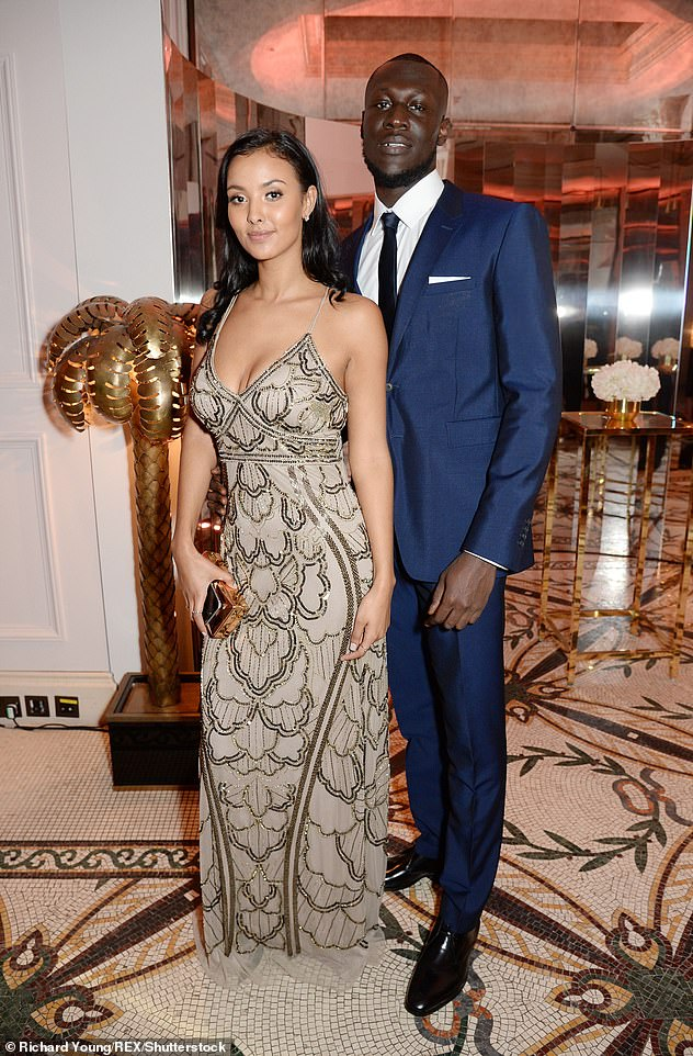 Former flame: Maya famously dated musician Stormzy for four years until their split in August 2019 (pictured together in 2017)