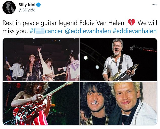 Respect: Musical stalwarts such as Tommy Lee, Lenny Kravitz and Billy Idol paid memorial to the rock staple