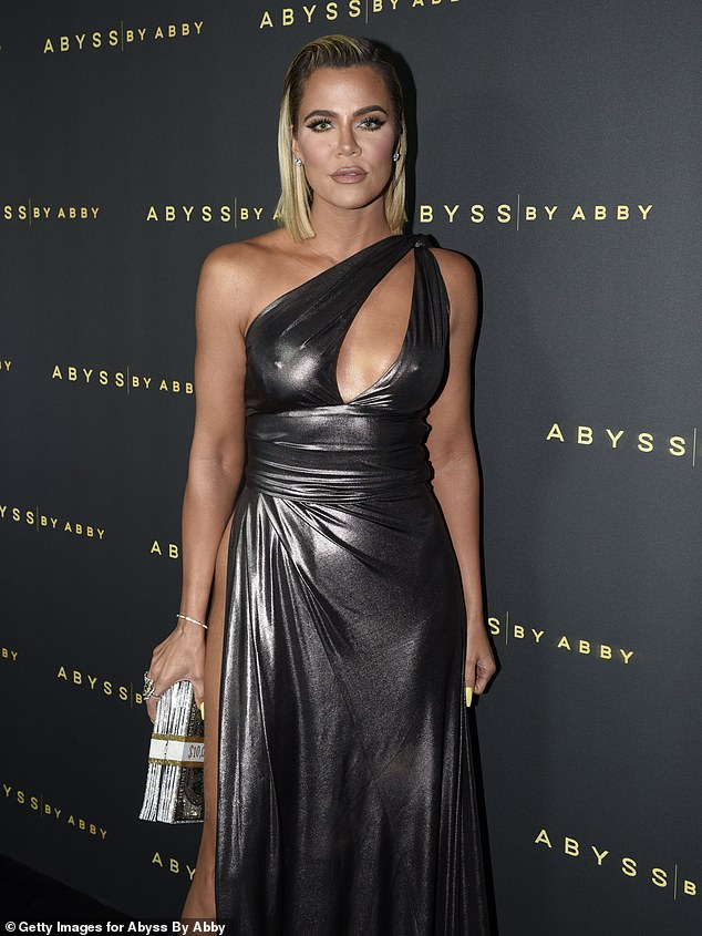 Red carpet glam: The TV personality is seen here at an event in LA in January