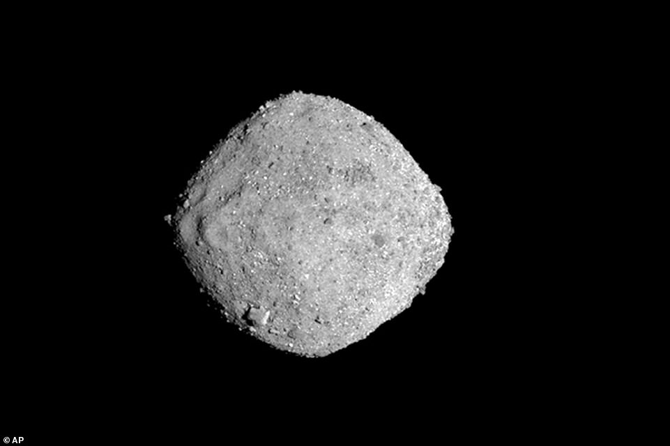 The asteroid Bennu pictured above in this NASA image dated November 16, 2018