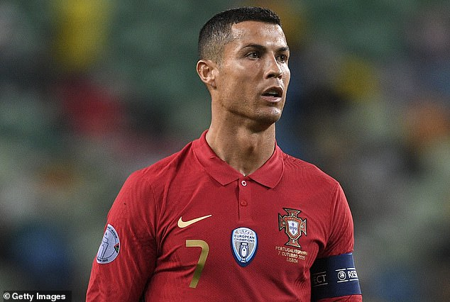 Pictured: Cristiano Ronaldo of Portugal features in an international friendly match between Portugal and Spain Wednesday night. A relative is said to have reported the burglary on Wednesday morning