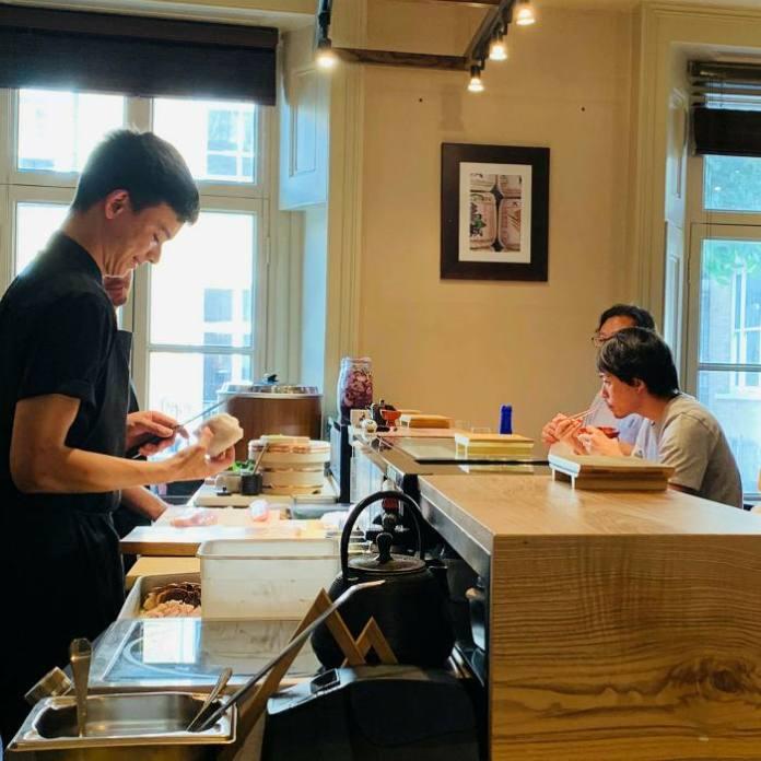 Chef Jon Sho of the six-seat Kakéby Chisou ...