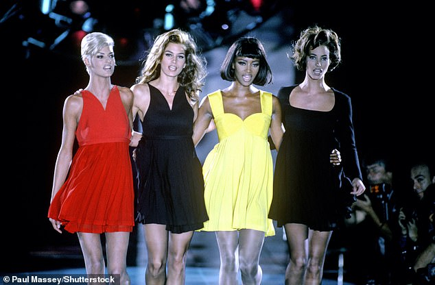 Icons: The catwalk Queen, 50, will feature in the Apple TV+ series alongside Cindy Crawford, Linda Evangelista and Christy Turlington